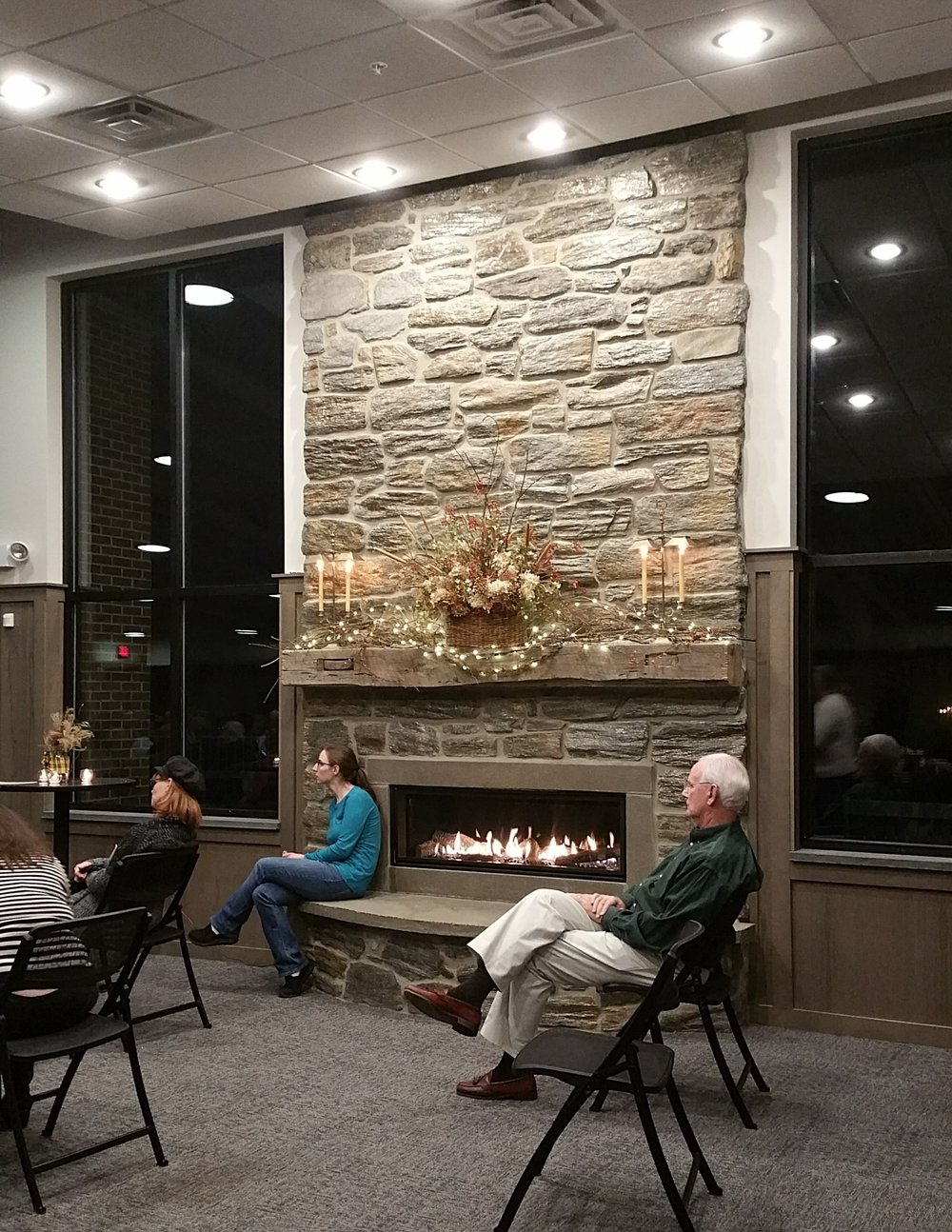 Fellowship Hall Fireplace