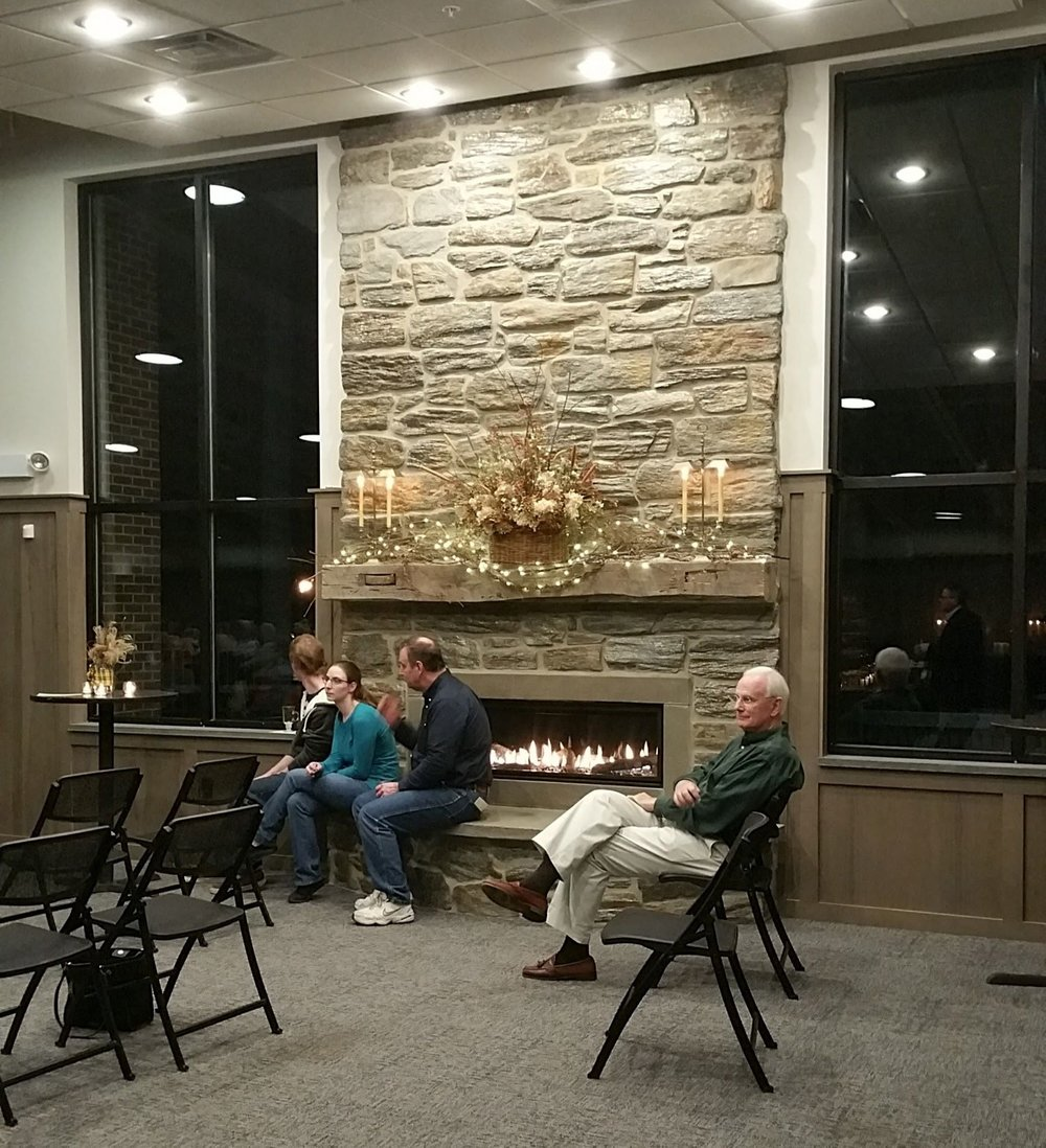 Fireplace at Fellowship Hall