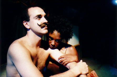 "Michael Kranes as ""The Baron Dictator"" and April Matthis as ""Venus"""