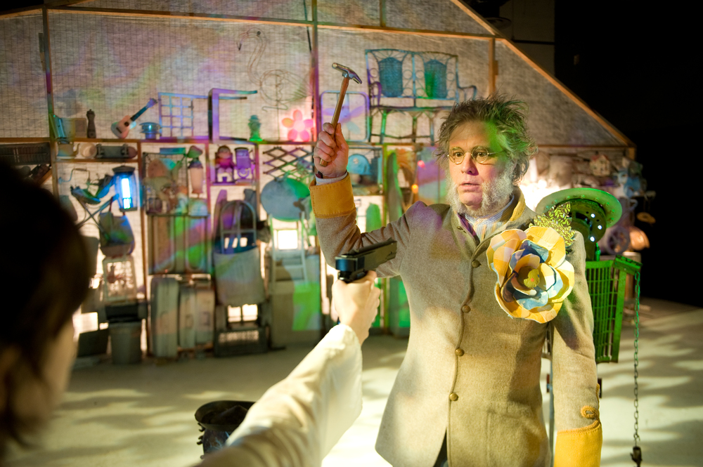 Robert Pierson in Salvage Vanguard Theater's Heddatron.