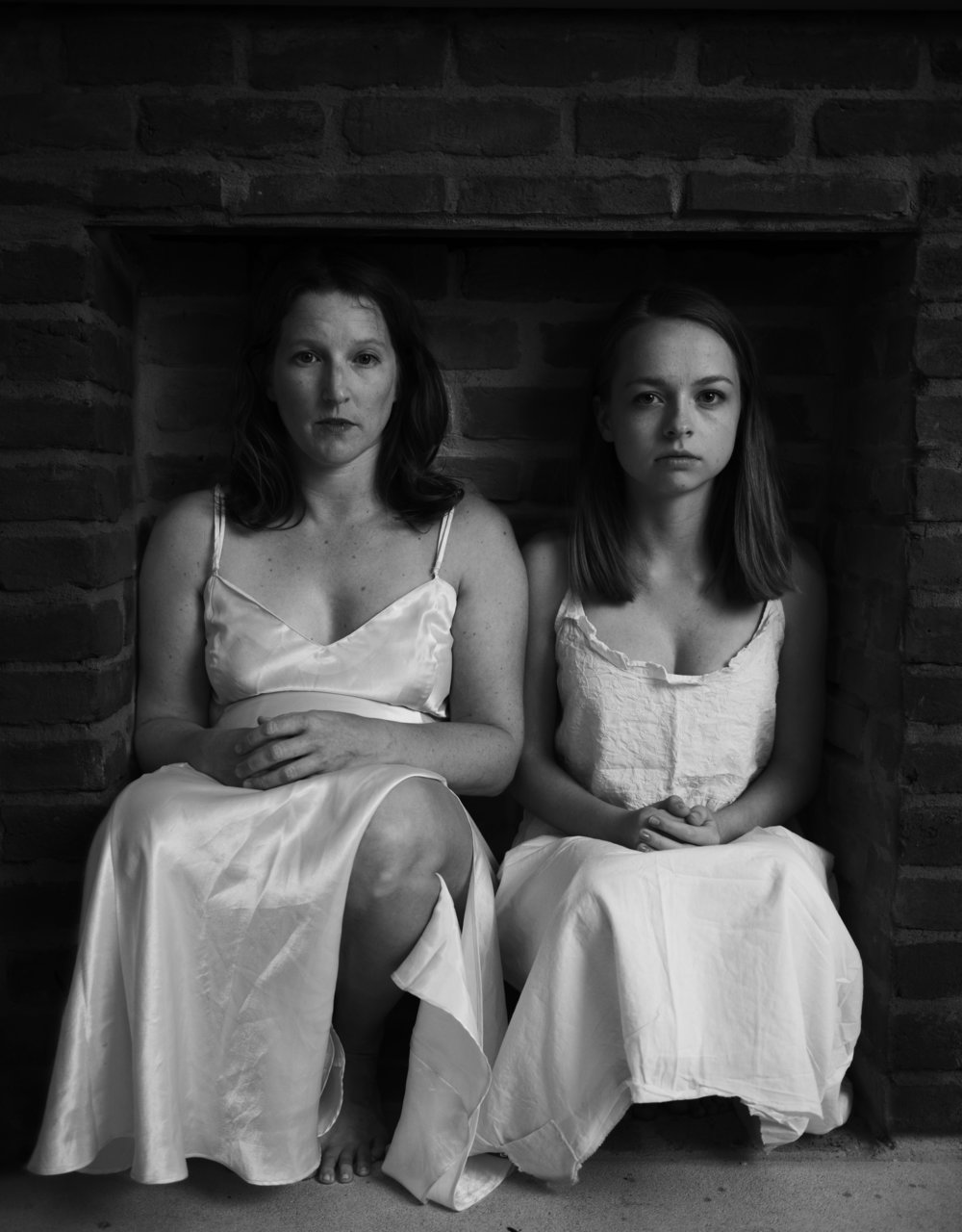 Photo by Erica Nix. Left Hannah Kenah as Alice, right Renna Larson as Fireclay.