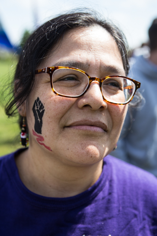 Protestor at Judkins Park, Seattle, WA 05/01/2015