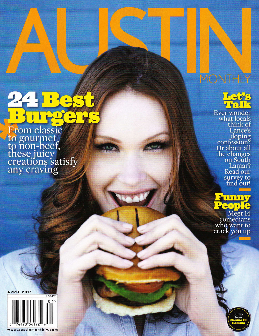 Cover of Austin Monthly - April 2013 Issue