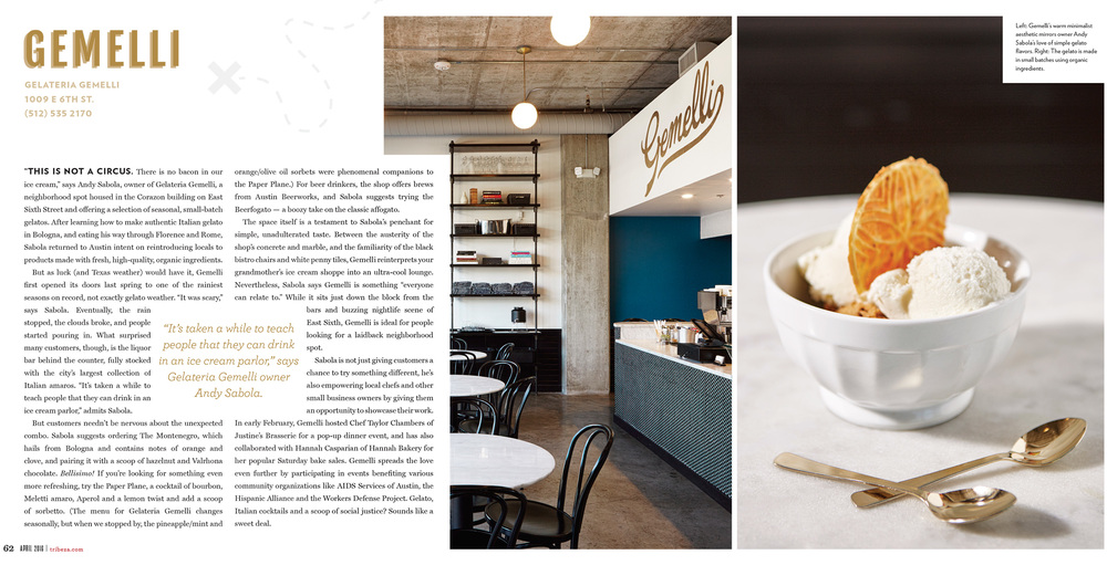 "TRIBEZA // ""DESSERT AS DESTINATION"" FEATURE // APRIL 2016"