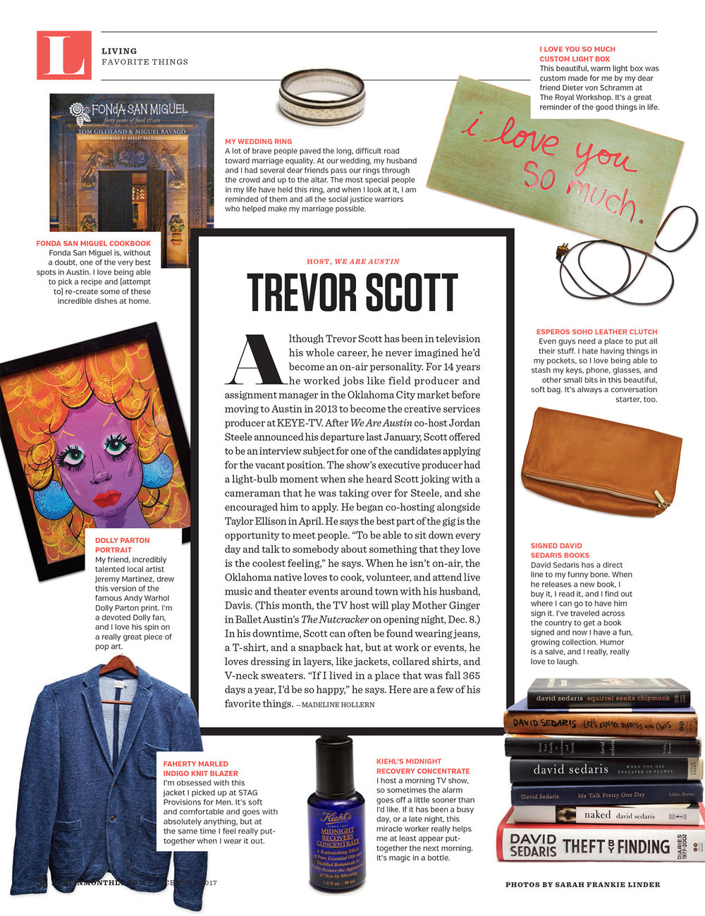 Austin Monthly // Favorite Things // Trevor Scott