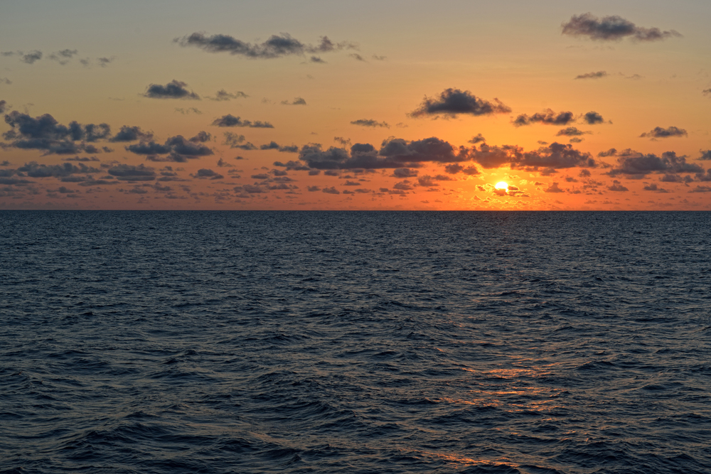 Sunset over the Coral Sea
