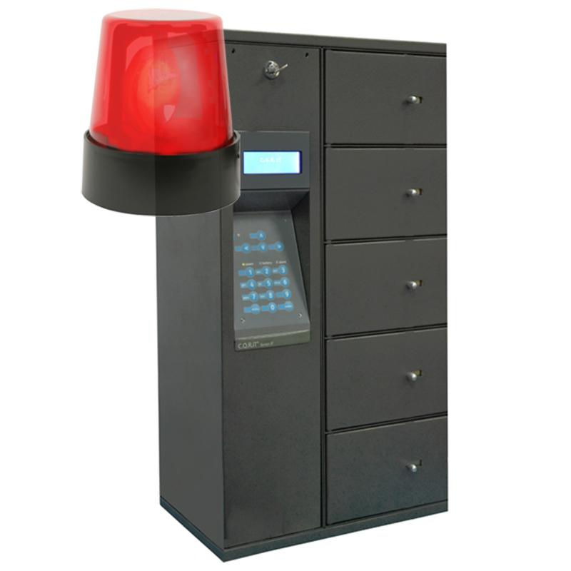 lockers with alarm icon