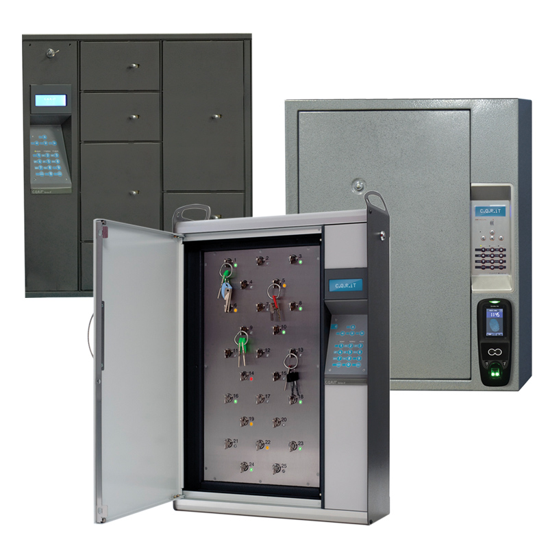 CQRiT® family includes lockers, key cabinets and high-security cabinets