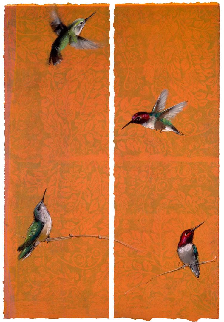 Hummingbird diptych