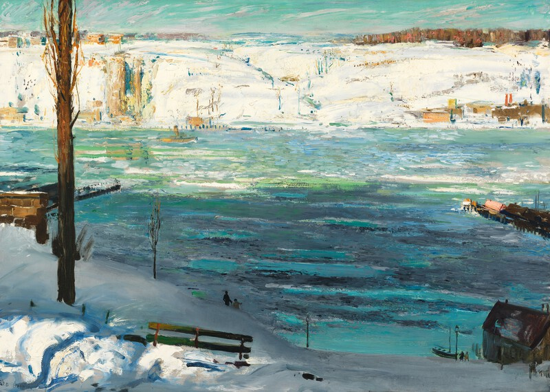 "George Bellows ""Floating Ice"", 1910, Oil on Canvas, 45 x 63 in."