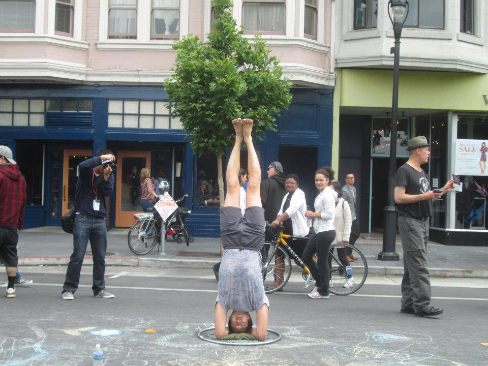 Yoga during Sunday Streets