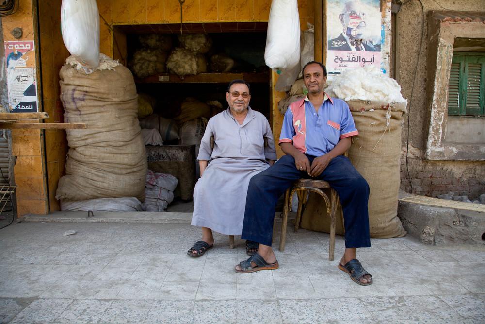 Cairo cotton vendors.