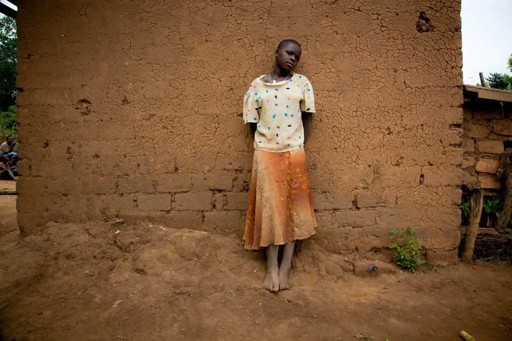 AIDS orphan in full. Uganda.