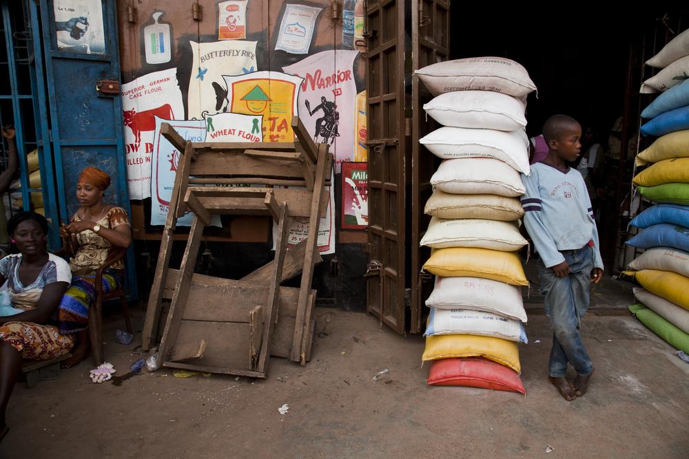 Makeni street scene, Sierra Leone.