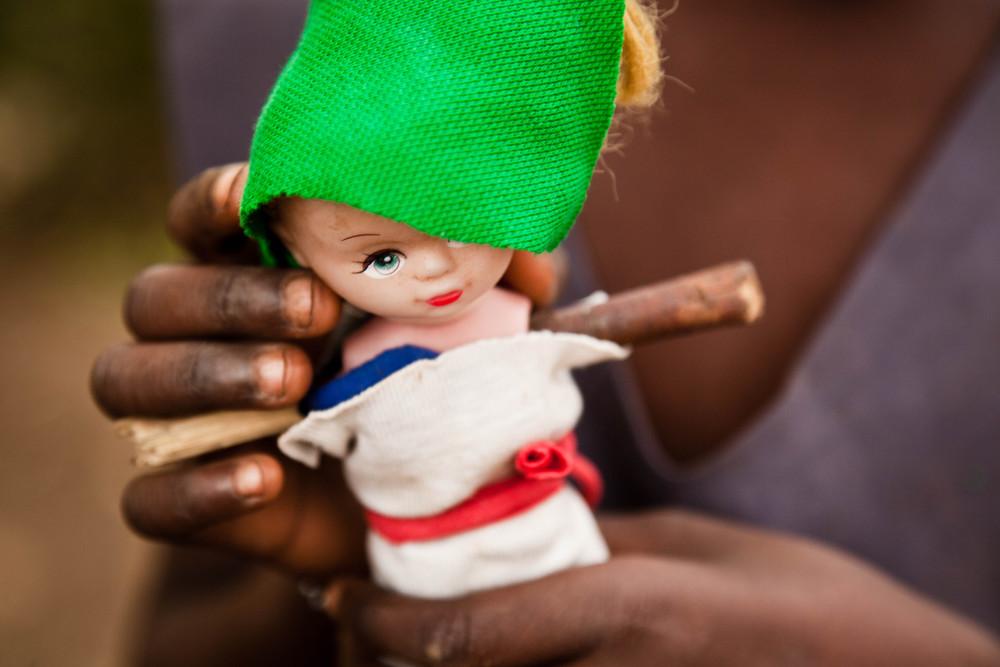 Doll with sticks for arms. Kampala, Uganda.