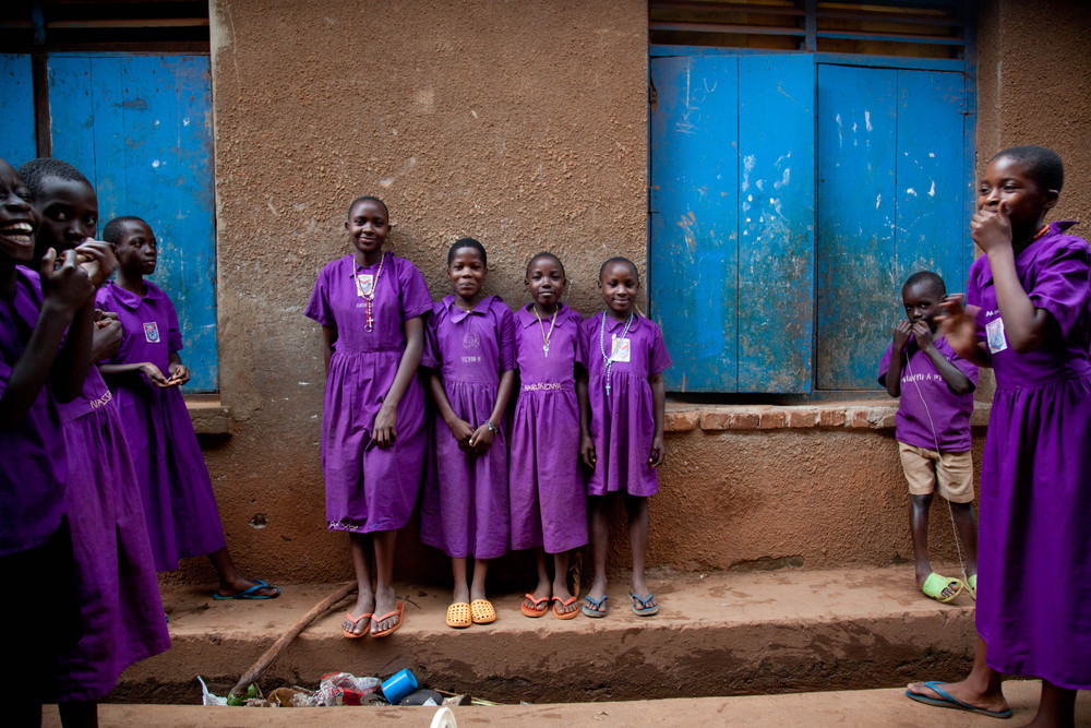 Recess in purple. Mpigi, Uganda.