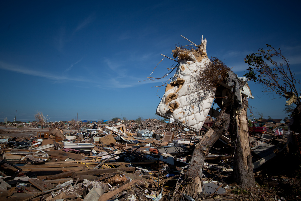 During the May 20th tornado, winds reached 210 mph. Items from Moore residences were located in neighboring homes, towns, and states.
