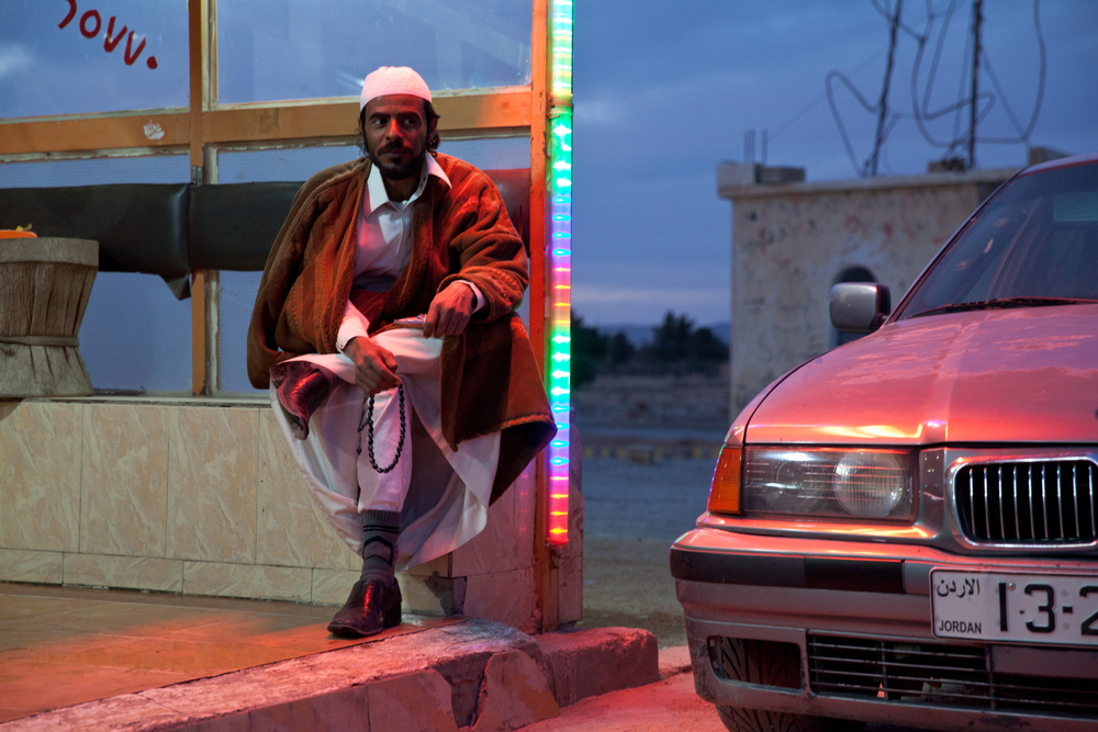bedouin bachelor and his wheels. petra, jordan.