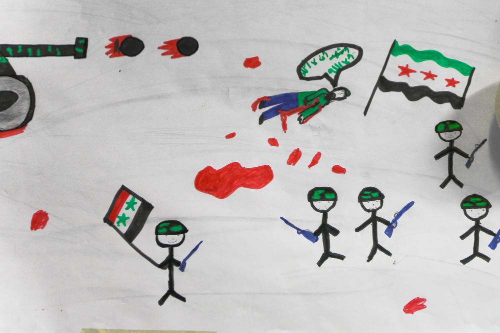 a child's interpretation of civil disruption.