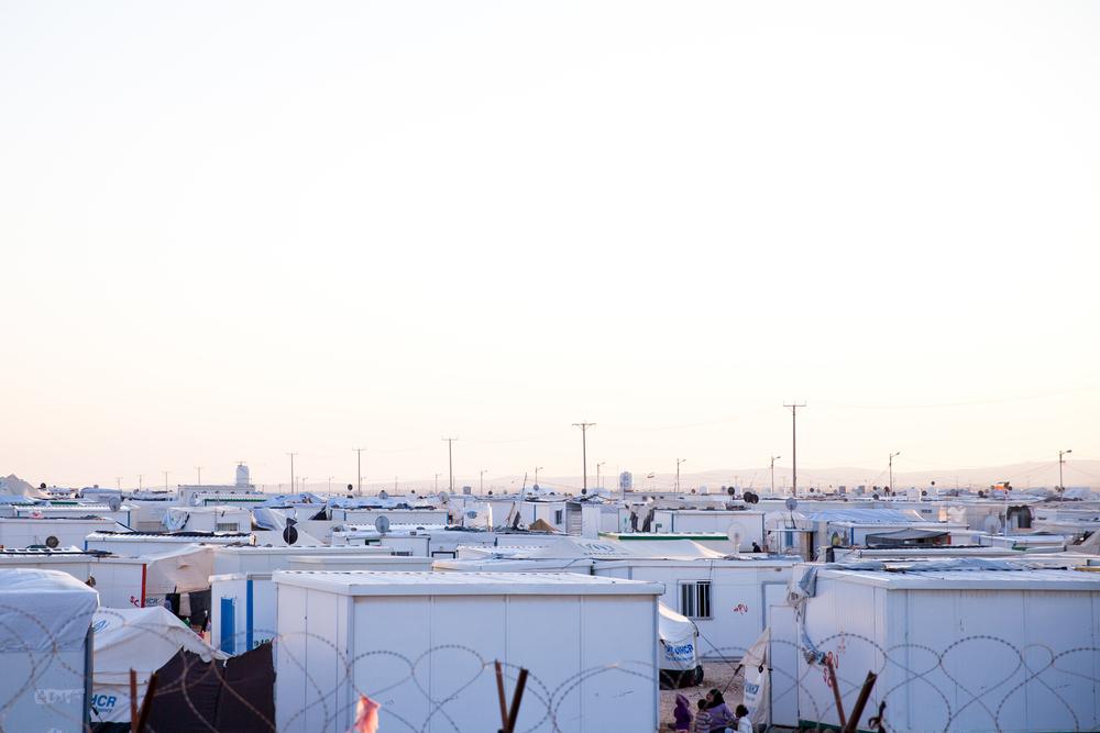 zaatari refugee camp. population 144,000.