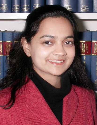 Lavanya Rajamani (India & Hertford 1996)