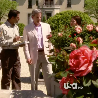 "On Set: ""The Royal Pains"" / Rebecca as a Gardener with Campbell Scott"