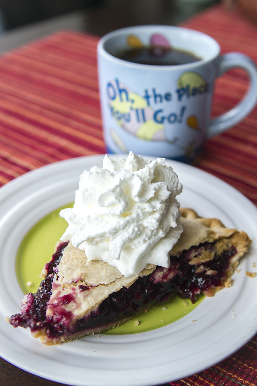 "Me to my pie, ""Oh, the place you'll go...like right into my mouth."""