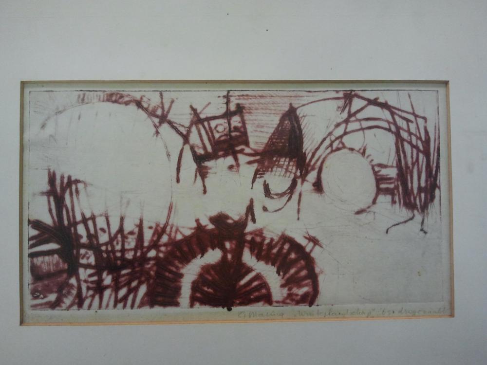 G. Maling - droge naald 40x30 cm - niet meer in de galerie