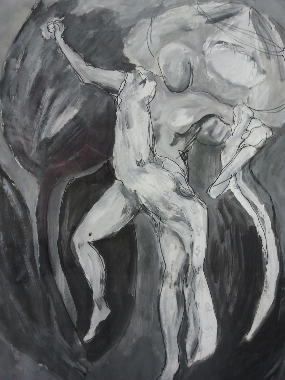 Seysener - black/white 60x80 cm met lijst