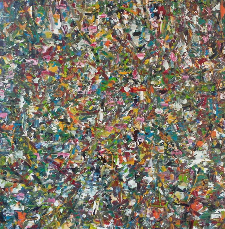 1 x 1 m VERKOCHT hangt in Parijs sold