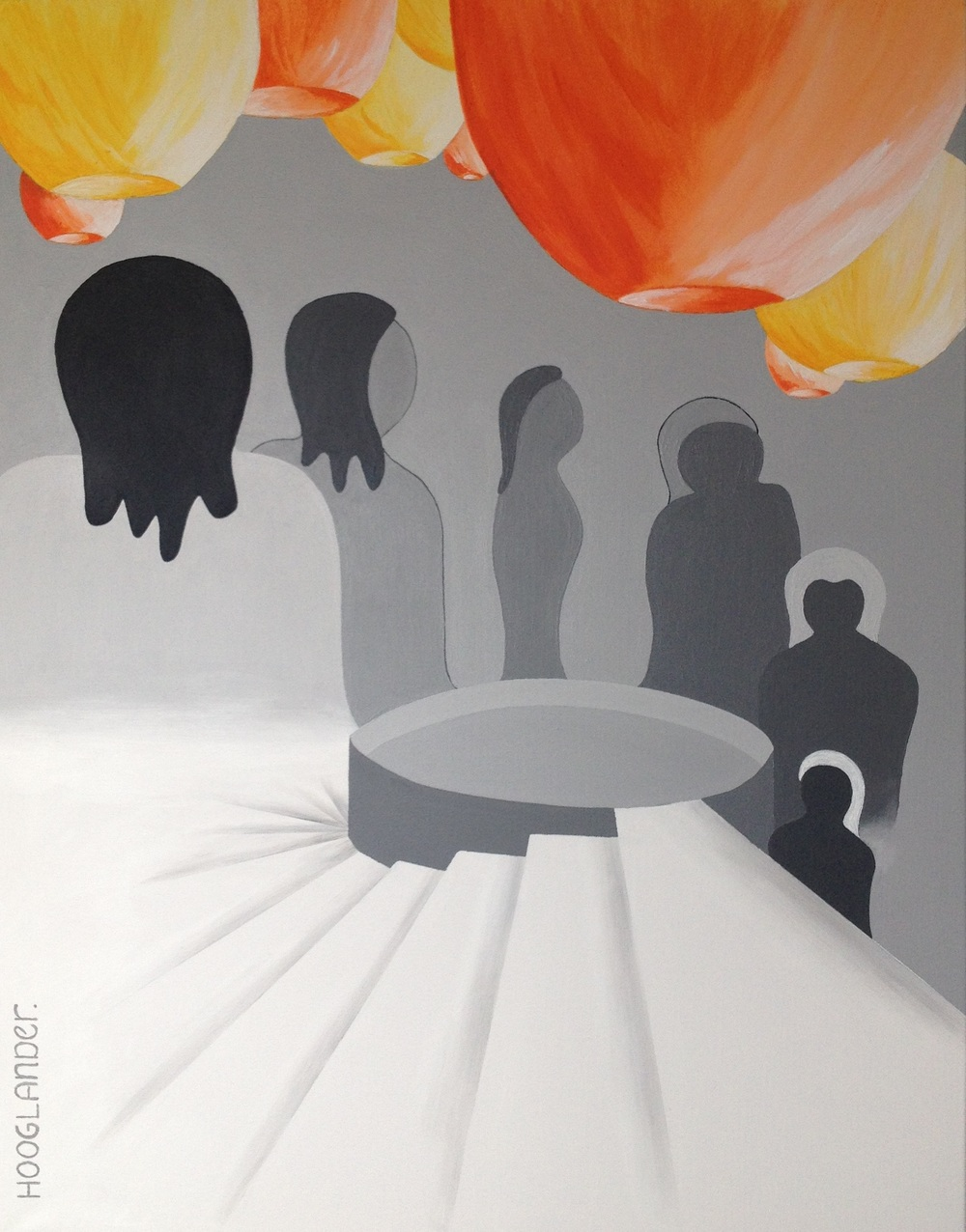 Down Under 70 x 90 cm acryl
