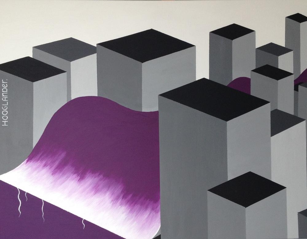 Drift Acryl 70 x90 cm