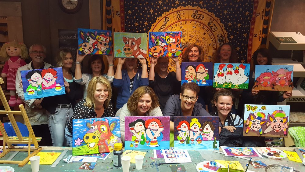 Ervaring met schilderen is niet nodig, iedereen kan schilderen!