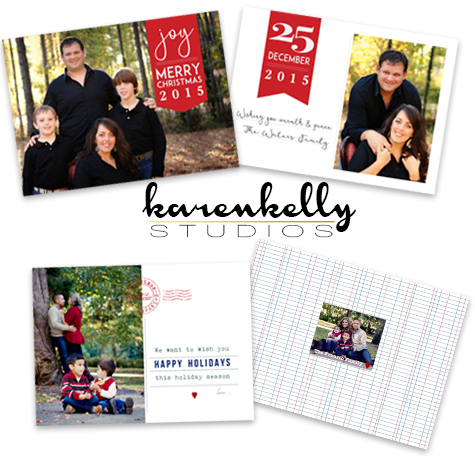 2015 Custom Holiday Cards by Karen Kelly Studios