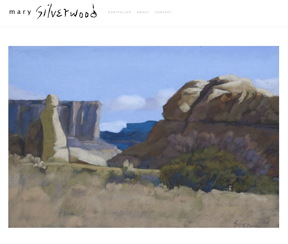 Mary Silverwood was a prolific and innovative pastel artist who passed away in 2011.  Her estate wanted to showcase their extensive collection and back catalogue in a portfolio formatted website that focused on the art and was easy to navigate.