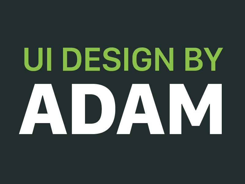 Adam Design ui designadam