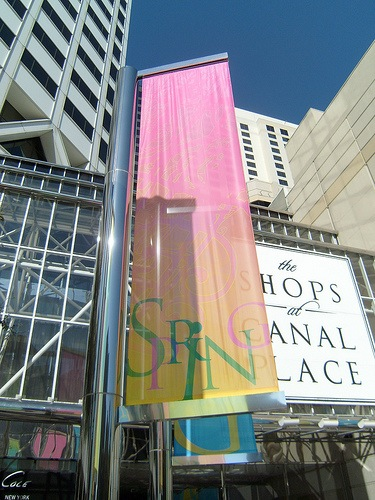 canal place stainless steel pole and banners closeup.jpg