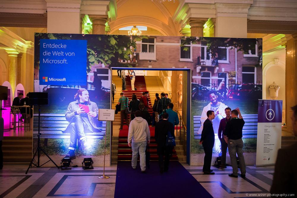 Der Eingang zum Microsoft Day 2014