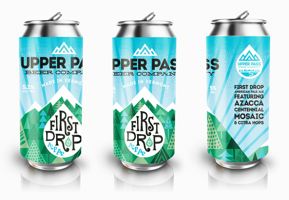 Upper Pass Beer Co. Beer label design. © 2016