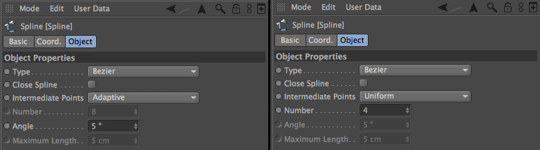 Spline Intermediate Points and Subdivision