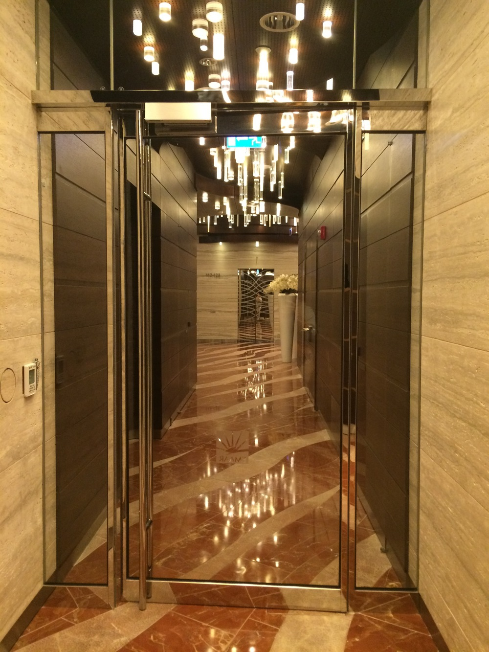 A peek inside the beautiful hallways of the Burj