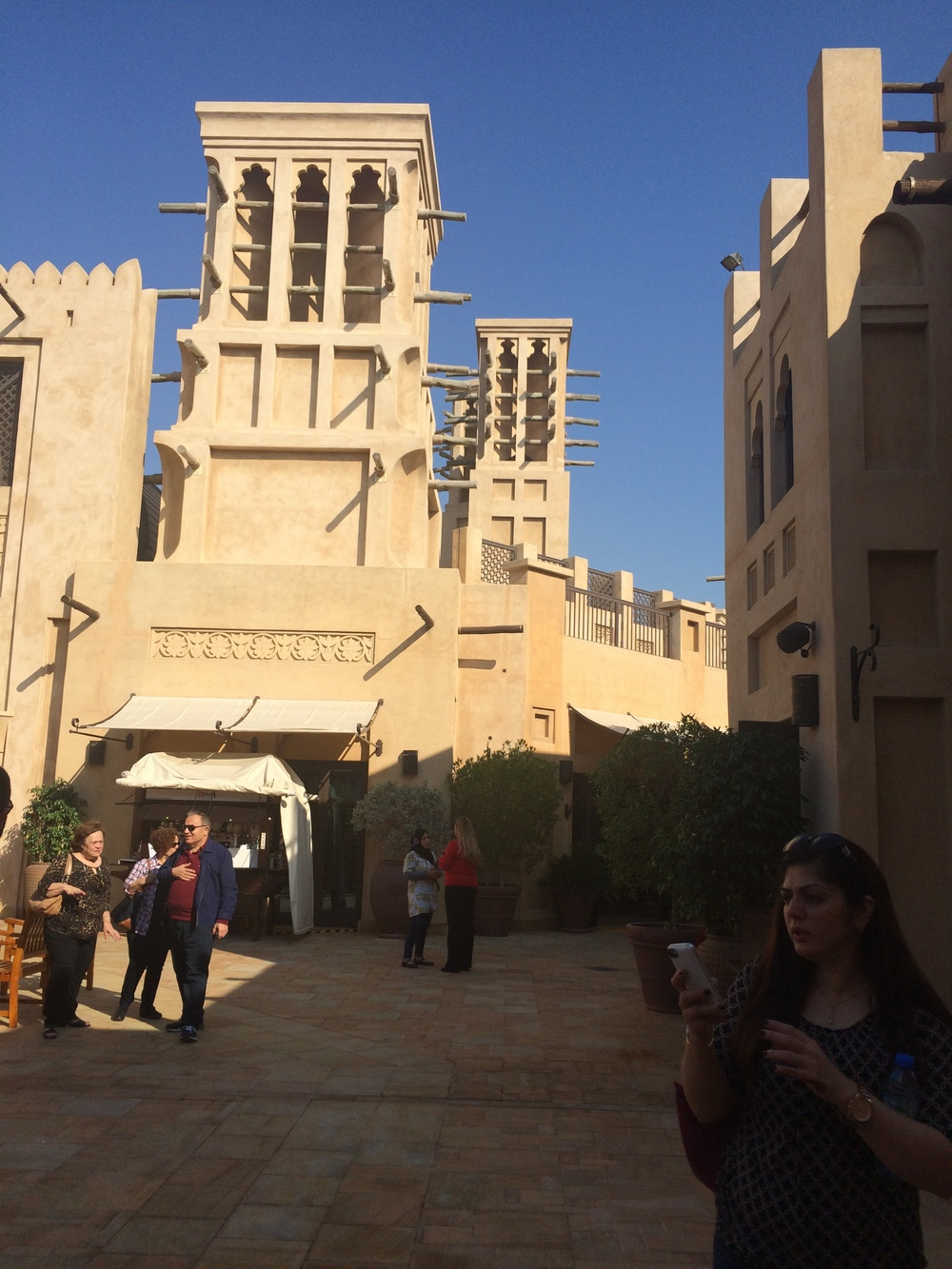 Another Souk featuring traditional architecture. The towers serve as natural ventilation systems.
