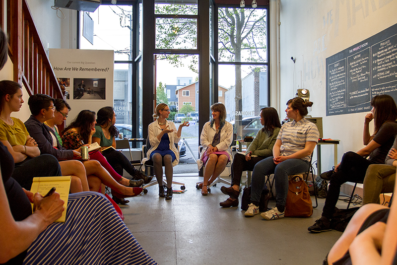 Legacy Assignment Series II: If a Handful of Matches is Thrown to the Floor.      Performance Artist and Poet  Sierra Nelson  questions the roles divination, science, and artistic practice play in our understanding of the past and our choices for the future. She was joined by her longtime collaborator  Rachel Kessler  (together working as Vis-A-Vis Society) to bookend the conversation with some live experiments.