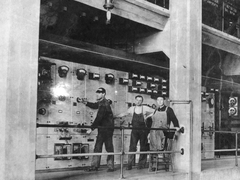 Georgetown Steam Plant workers in early 1900's. Seattle, WA