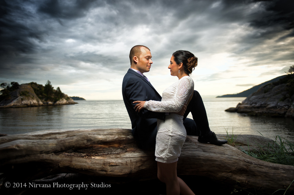 Wedding Photography at Whytecliff Park, BC.Click to enlarge