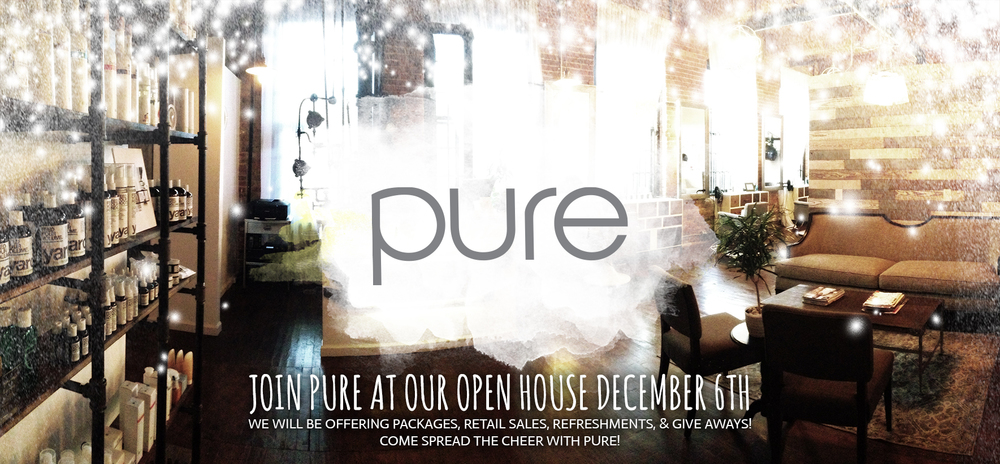 Pure will be welcoming all to our new home within Marathon 10-7pm on December 6th,2014!