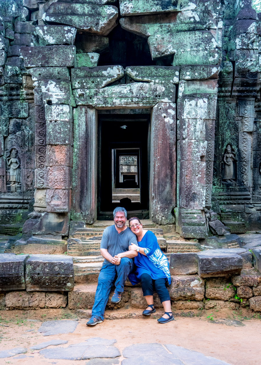 "Exploring Ta Som, one of our favorite out-of-the-way temple complexes on Angkor Wat's ""Grand Circuit"". The extended 26-km route requires several days and lots of steps, but immerses you into Angkor's stunning array of sites and architecture, which spills for hundreds of km2 into the Cambodian jungle. So worth it!  ( Toccati  Edge 2016: Angkor Wat)"