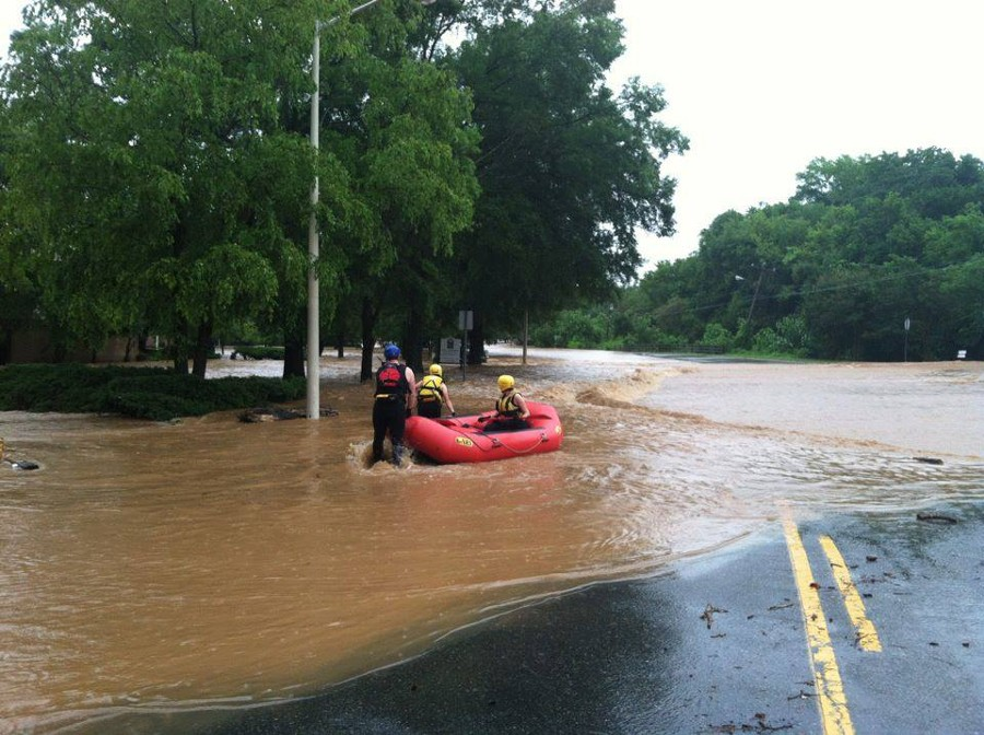 Flooding on South Estes Dr (Chapel Hill)