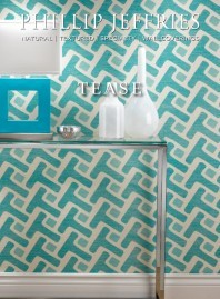 New for Spring from Phillip Jeffries, this wallpaper is called Tease.