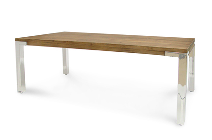 This table is the perfect blend between contemporary and warm, rustic yet clean lined.